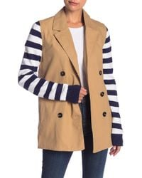 English Factory - Stripe Sleeve Jacket - Lyst