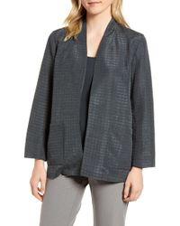 Eileen Fisher - Silk Blend Kimono Jacket (regular & Petite) - Lyst