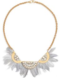 Sandy Hyun - Feather Bib Necklace - Lyst
