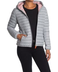 Save The Duck Giga Hooded Puffer Jacket - Gray
