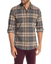 Wallin & Bros. Plaid Print Woven Regular Fit Shirt - Gray