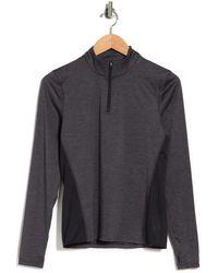 Threads For Thought Keva Reactive Half-zip Pullover Sweatshirt - Gray