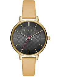 Ted Baker - Kate Leather Strap Watch, 38mm - Lyst