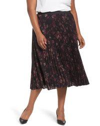 Sejour - Pleated Midi Skirt (plus Size) - Lyst