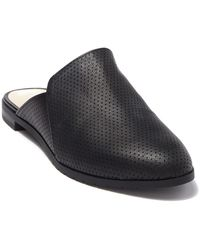Kenneth Cole Reaction Ruthie Perforated Leather Mule Flat - Black