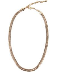 Rebecca Minkoff 12k Yellow Gold Plated Foxtail Chain Necklace - Metallic