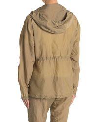 John Elliott Silk Hooded Zip Jacket - Multicolor
