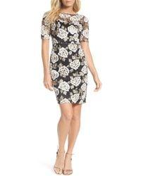 Adrianna Papell - Madelin Embroidered Sheath Dress (regular & Petite) - Lyst
