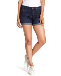 Nanette Lepore - Double Rolled Denim Shorts - Lyst
