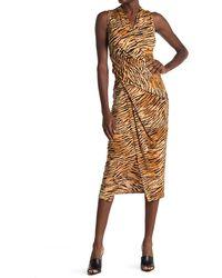 RACHEL Rachel Roy Sleeveless Tiger Stripe Bret Dress - Multicolor