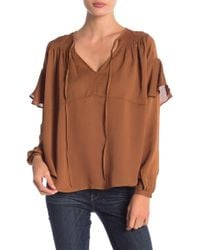 Line & Dot - Philipa Ruffle Sleeve Blouse - Lyst