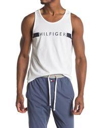 Tommy Hilfiger Logo Lounge Tank - White