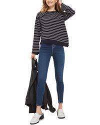 TOPSHOP - Asymmetrical Hem Sweater - Lyst