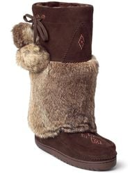 Manitobah Mukluks - Genuine Rabbit Fur & Sheepskin Snowy Owl Mukluk - Lyst