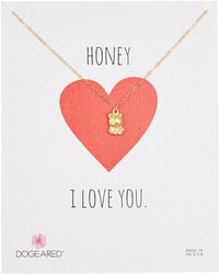 Dogeared - Teddy Bear Charm Necklace - Lyst