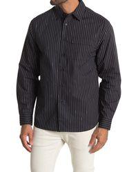 Saturdays NYC Miro Logo Stripe Long Sleeve Shirt - Black