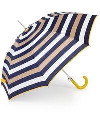Shedrain Auto Open Printed Stick Umbrella - Blue