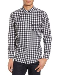 The Rail - Patched Flannel Shirt - Lyst