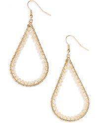 Panacea - 14k Gold Plated Open Teardrop Earrings - Lyst