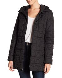 Laundry by Shelli Segal - Soft Tech Quilt Hooded Coat - Lyst