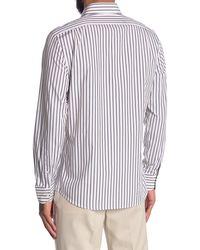 Reiss - Leicester Long Sleeve Stripe Shirt - Lyst