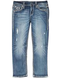 Rock Revival Easy Capri Jeans - Blue