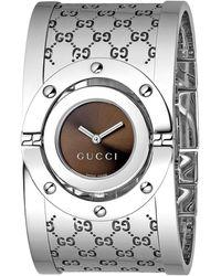 Gucci Women's Twirl Brown Dial Watch, 33mm - Metallic