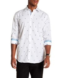 Bugatchi - Dotted Long Sleeve Classic Fit Shirt - Lyst