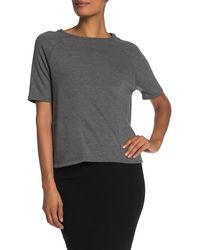 Go Couture Short Sleeve Knit Pullover - Gray