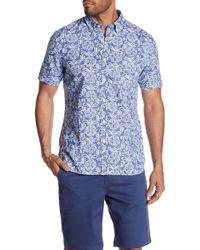 Jack Spade - Short Sleeve Flower Trim Fit Shirt - Lyst