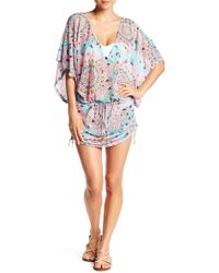 Luli Fama - Cabana V-neck Dress - Lyst