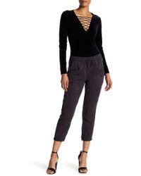 Pam & Gela - Beaded Trim Tencel Pants - Lyst