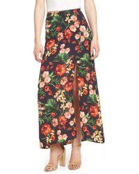Lush - Floral Maxi Skirt - Lyst
