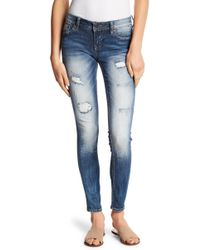 Miss Me Extreme Fade Skinny Jeans - Blue
