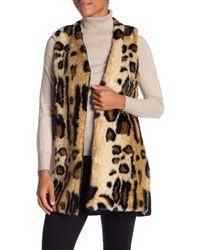 Joseph A Faux Fur Leopard-print Vest - Multicolor