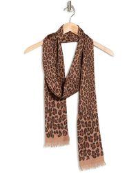 Valentino Garavani Cheetah Print Foulard - Brown