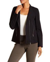 Lafayette 148 New York - Alice Asymmetrical Zip Jacket - Lyst