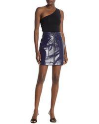 Rebecca Minkoff Marguerite Front Zip Mini Skirt - Blue