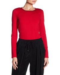 ABS By Allen Schwartz - Zipper Back Sweater - Lyst