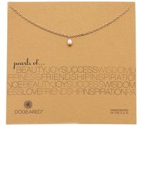 Dogeared - Pearls Of Dewdrop 5mm Pearl Pendant Necklace - Lyst