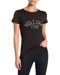Volcom - Simply Solid Ringer Tee - Lyst