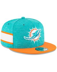 aa746772 KTZ Miami Dolphins Sideline Knitted Hat in Blue for Men - Lyst