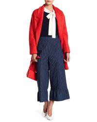 English Factory - Stripe Ruffled Hem Pants - Lyst