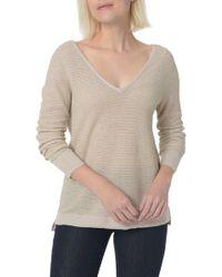 NYDJ - Double V-neck Sweater - Lyst