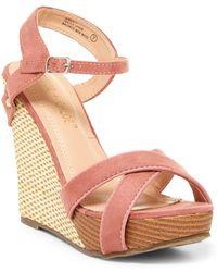 In Touch Footwear - Aimee Wedge Sandal - Lyst