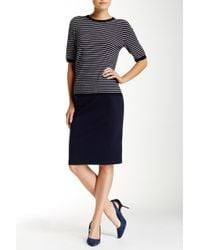 Philosophy Apparel - Solid Ponte Pencil Skirt - Lyst