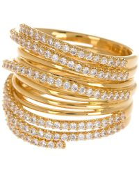 Nadri Large Cz Orbital Ring - Size 8 - Metallic