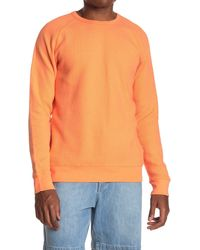 Saturdays NYC Kasu Heavy Waffle Knit Long Sleeve T-shirt - Orange