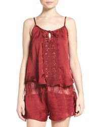Band Of Gypsies - Lace Inset Camisole - Lyst