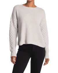 Autumn Cashmere Shaker Embellished Cashmere Crew Neck Sweater - Multicolor